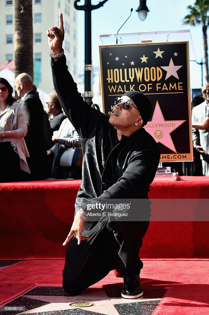 Rapper/actor LL Coo J attends a ceremony honoring him with the 2,571st Star on The Hollywood Walk of Fame on January 21, 2016 in Hollywood, California.