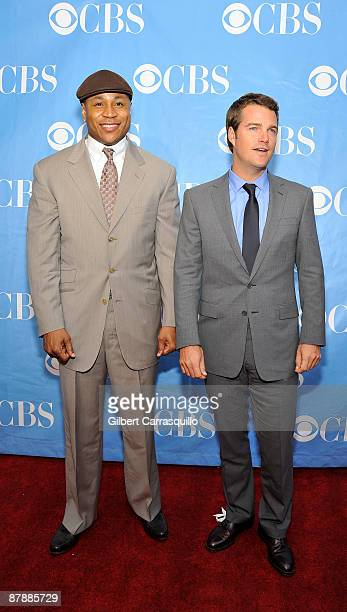 Rapper/actor LL Cool J and actor Chris O'Donnell attend the 2009 CBS Upfront at Terminal 5 on May 20 2009 in New York City