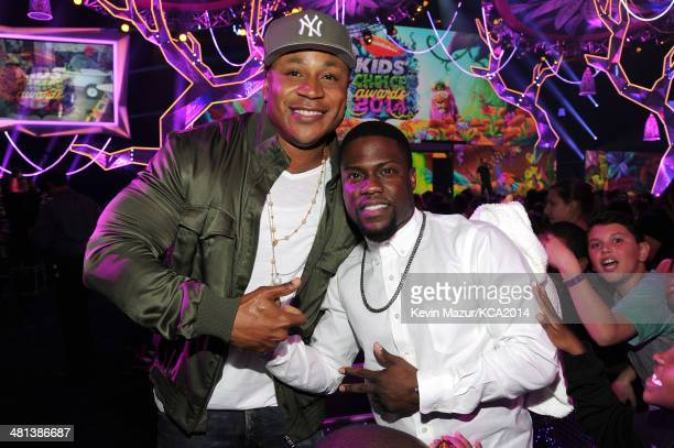 Rapper/actor LL Cool J and actor Kevin Hart attend Nickelodeon's 27th Annual Kids' Choice Awards held at USC Galen Center on March 29 2014 in Los...