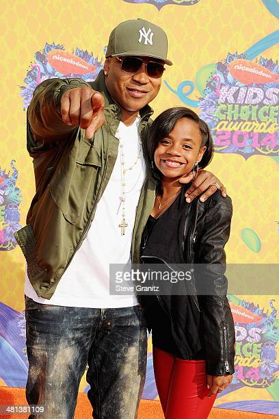 Rapper/actor LL Cool J and daughter Nina attend Nickelodeon's 27th Annual Kids' Choice Awards held at USC Galen Center on March 29 2014 in Los...