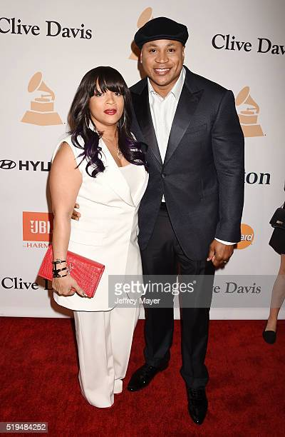Rapper/actor LL Cool J and wife Simone Smith attend the 2016 PreGRAMMY Gala and Salute to Industry Icons honoring Irving Azoff at The Beverly Hilton...