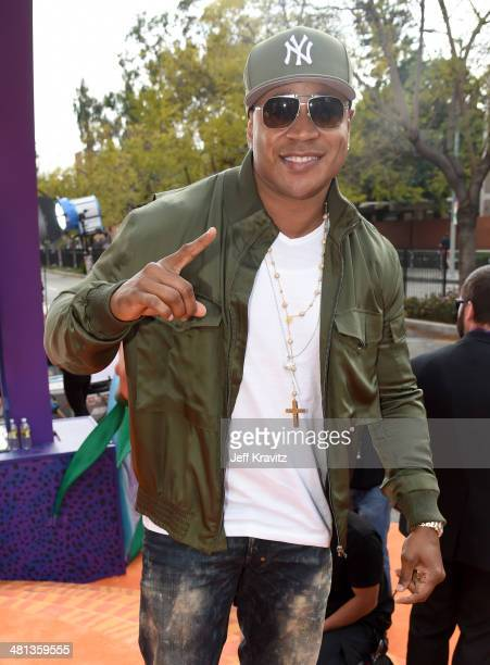 Rapper/actor LL Cool J arrives at Nickelodeon's 27th Annual Kids' Choice Awards at USC Galen Center on March 29 2014 in Los Angeles California