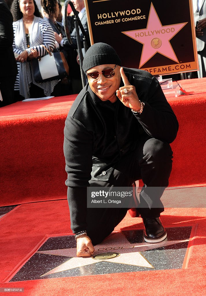 Rapper/actor LL Cool J is honored with a star on The Hollywood Walk of Fame on January 21, 2016 in Hollywood, California.