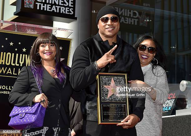 Rapper/actor LL Cool J wife Simone Smith and mother Ondrea Smith attend the ceremony honoring LL Cool J with a star on the Hollywood Walk of Fame on...
