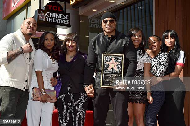 Rapper/actor LL Cool J wife Simone Smith mother Ondrea Smith and family attend the ceremony honoring LL Cool J with a star on the Hollywood Walk of...