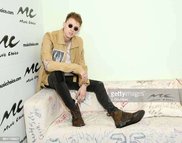 Rapper/actor Machine Gun Kelly poses for a photo during a visit to Music Choice on May 18 2017 in New York City
