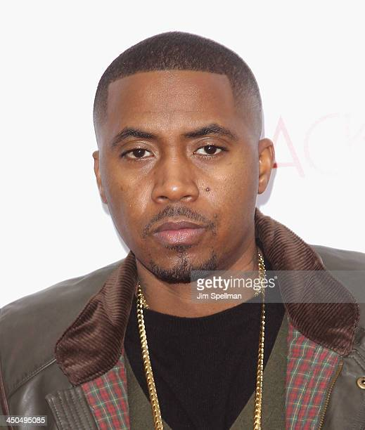 Rapper/actor Nas attends the 'Black Nativity' premiere at The Apollo Theater on November 18 2013 in New York City