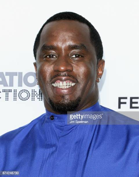 Rapper/actor Sean Combs attends the world premiere of 'Can't Stop Won't Stop A Bad Boy Story' cosupported by Deleon Tequila during the 2017 Tribeca...