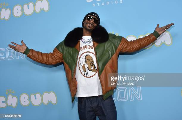 Rapper/actor Snoop Dogg arrives for the Los Angeles premiere of The Beach Bum at the Arclight cinemas on March 28 2019 in Hollywood