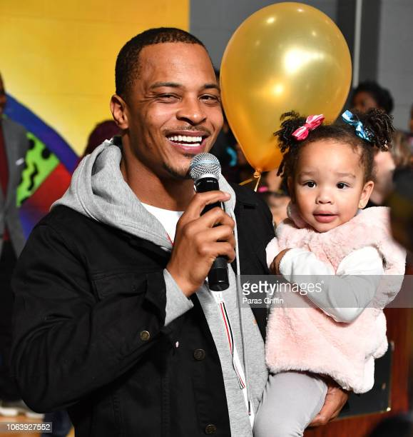 """Rapper/actor T.I. And his daughter Heiress Diana Harris attend Tip """"T.I."""" Harris' 13th annual Thanksgiving Turkey Giveaway at Adamsville Recreation..."""