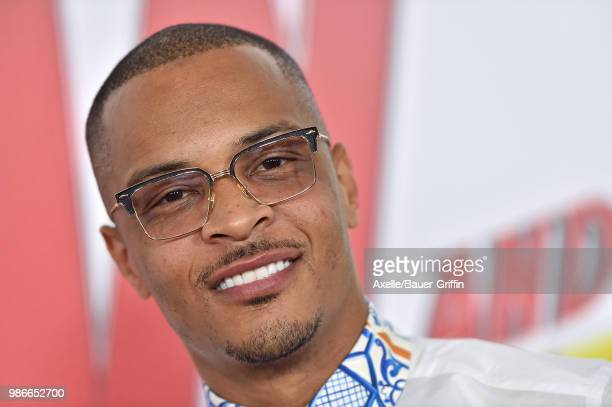 Rapper/actor T.I. Attends the premiere of Disney and Marvel's 'Ant-Man and the Wasp' at El Capitan Theatre on June 25, 2018 in Hollywood, California.