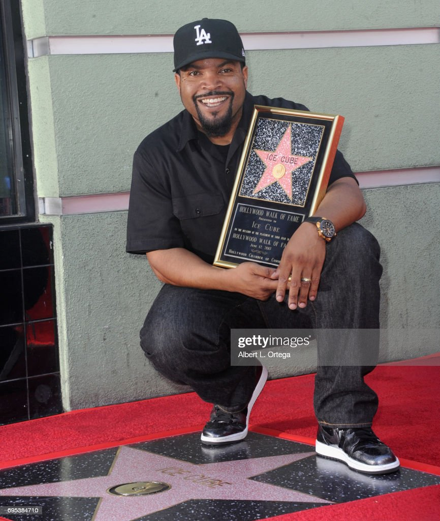 Rapper/actor/produccer Ice Cube honored with star on the Hollywood Walk of Fame held on June 12, 2017 in Hollywood, California.