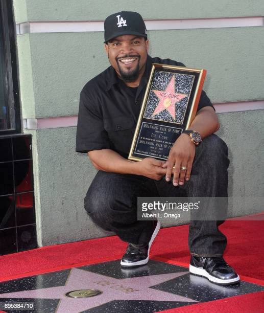 Rapper/actor/produccer Ice Cube honored with star on the Hollywood Walk of Fame held on June 12 2017 in Hollywood California