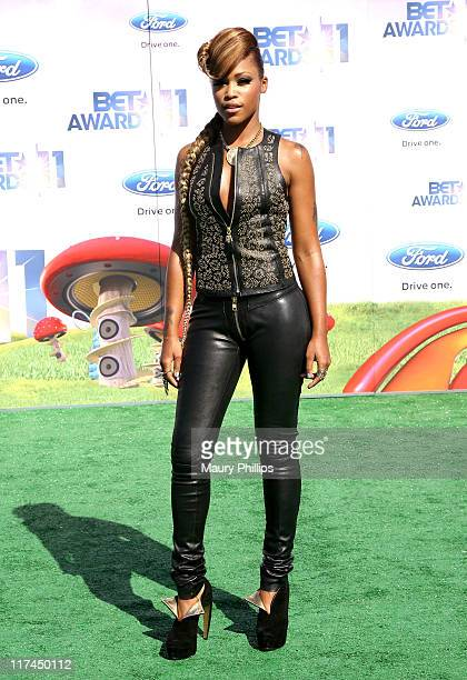 Rapper/actress Eve arrives at the BET Awards '11 held at The Shrine Auditorium on June 26 2011 in Los Angeles California
