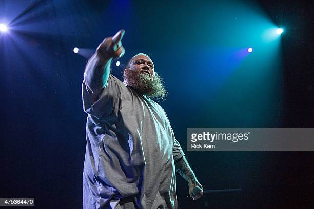 Rapper/chef Ariyan Arslani aka Action Bronson performs in concert at ACL Live on May 30 2015 in Austin Texas