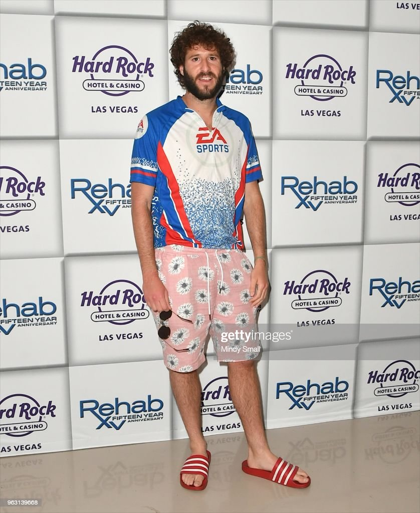 Lil Dicky Appearance At Hard Rock's Rehab Beach Club