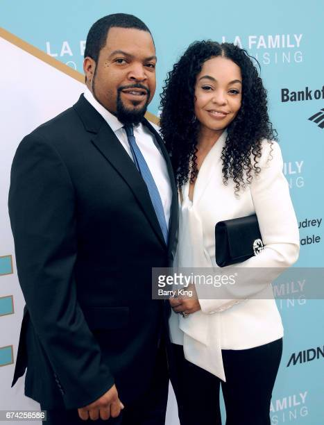 Rapper/honoree Ice Cube and wife Kimberly Woodruff attend LA Family Housing 2017 awards at The Lot on April 27, 2017 in West Hollywood, California.