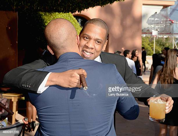 Rapper/producer JayZ attends the Roc Nation PreGRAMMY Brunch Presented by MAC Viva Glam at Private Residence on January 25 2014 in Beverly Hills...