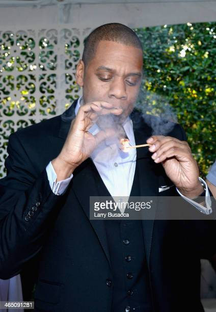 Rapper/producer Jay-Z attends the Roc Nation Pre-GRAMMY Brunch Presented by MAC Viva Glam at Private Residence on January 25, 2014 in Beverly Hills,...