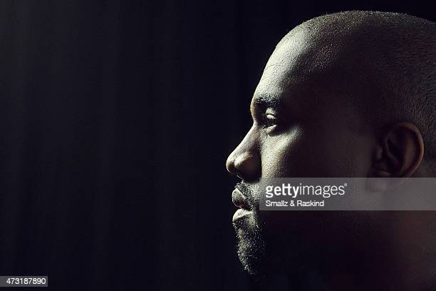 Rapper/producer Kanye West poses for a portrait at the 1027 KIIS FM's Wango Tango portrait studio for People Magazine on May 9 2015 in Carson...
