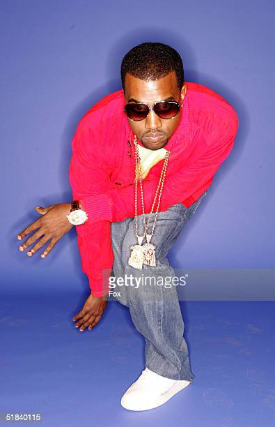 Rapper/producer Kanye West poses for a portrait during the 2004 Billboard Music Awards at the MGM Grand Garden Arena on December 8 2004 in Las Vegas...