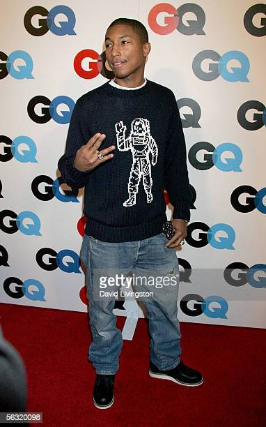 Rapper/producer Pharrell Williams arrives at GQ magazine's 2005 'Men Of The Year' celebration held at Mr Chow Beverly Hills on December 1 2005 in...