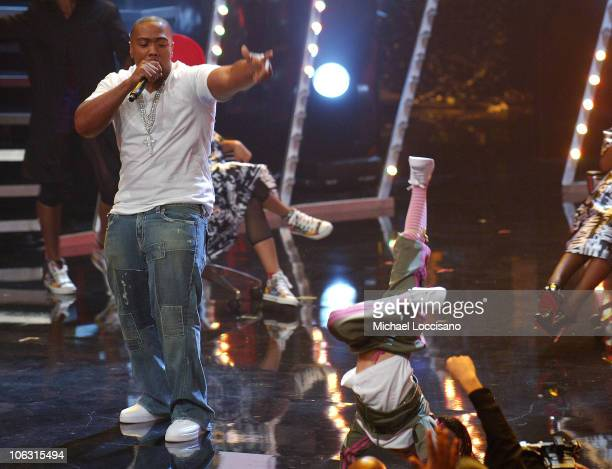 Rapper/Producer Timbaland on stage during the 2007 Vh1 Hip Hop Honors at Hammerstein Ballroom on October 4 2007 in New York City