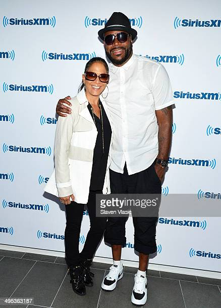 Rapper/radio personality Ed Lover and singer/drummer Sheila E visit SiriusXM Studios on June 2 2014 in New York City