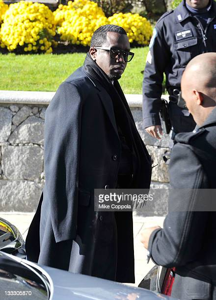 Rapper/record producer Sean P Diddy Combs attends the funeral service for Heavy D at Grace Baptist Church on November 18 2011 in Mount Vernon New York