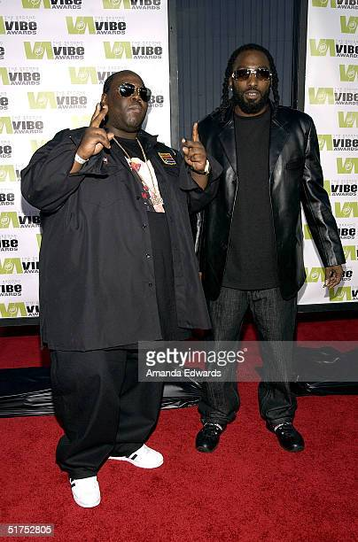 Rappers 8 Ball and MJG attend the 2004 Vibe Awards on UPN at Barker Hangar November 15 2004 in Santa Monica California