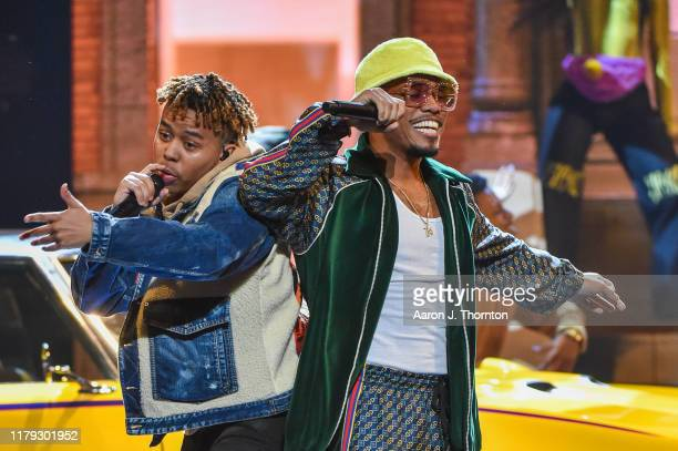 Rappers Anderson .Paak and YBN Cordae perform onstage at the 2019 BET Hip Hop Awards at Cobb Energy Performing Arts Centre on October 05, 2019 in...