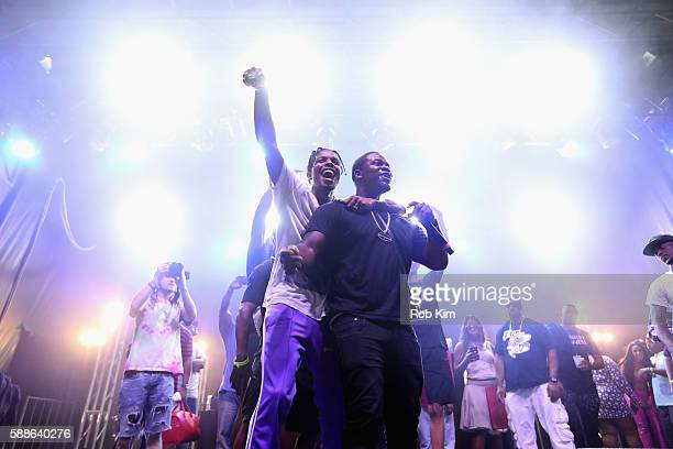 Rappers ASAP Rocky and ASAP Ferg perform onstage as BACARDI and Swizz Beatz' The Dean Collection present No Commission Art Performs Day 1 on August...
