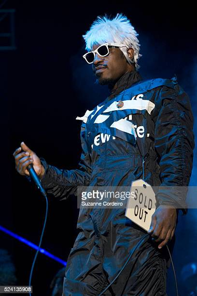 Rappers Big Boi and Andre 3000 of Outkast perform on stage during weekend two day one of Austin City Limits Music Festival at Zilker Park on October...