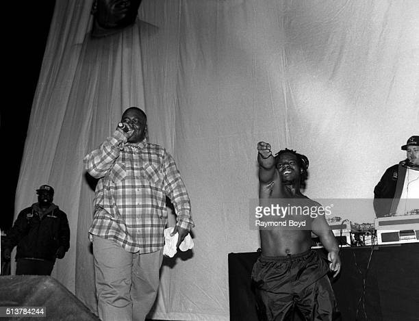 Rappers Big Mike and Bushwick Bill from The Geto Boys performs at the New Regal Theater in Chicago Illinois in July 1992