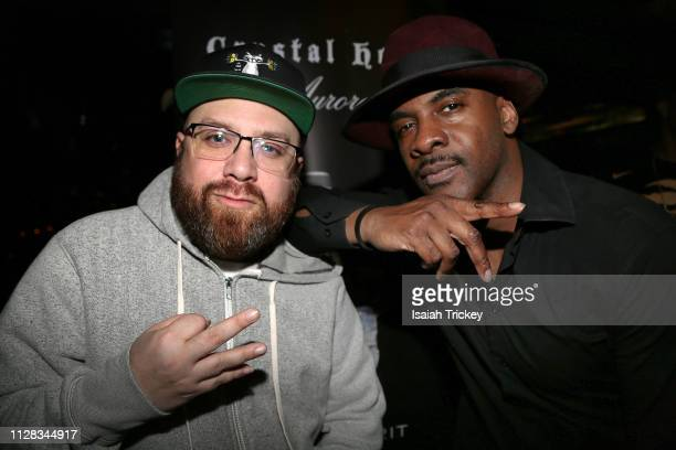 Rappers Bishop Brigante and Maestro Fresh Wes attend the Maestro Fresh Wes Champagne Campaign Album Listening Party at the Broadview Hotel on March...