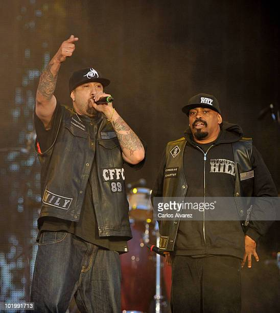 Rappers BReal and Sen Dog of Cypress Hill perform on stage at the Rock in Rio Festival on June 11 2010 in Arganda del Rey Spain