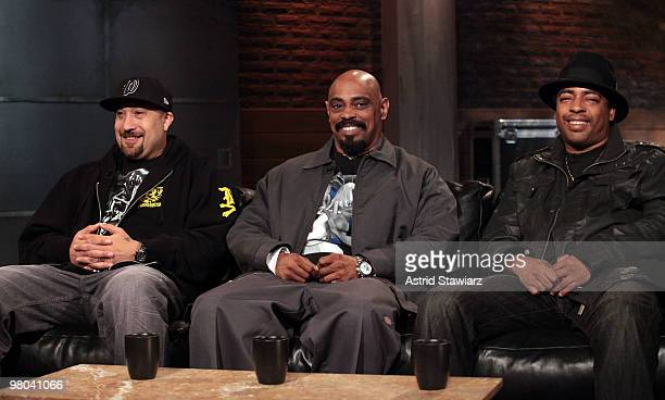 Rappers BReal Sen Dog and Eric Bobo Correa of the rap group Cypress Hill visit the fuse Studios on March 25 2010 in New York City