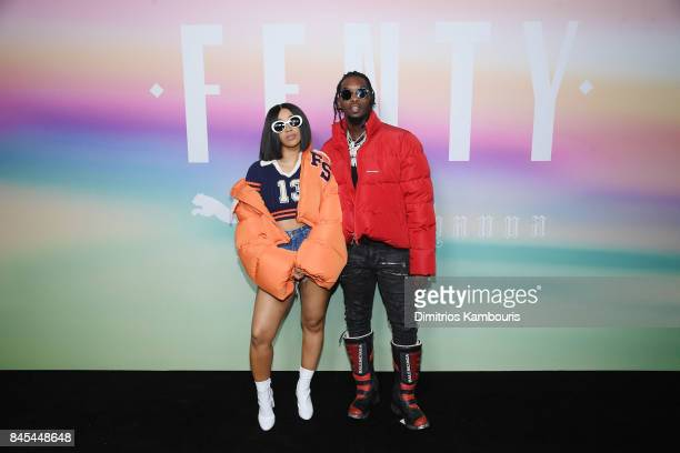 Rappers Cardi B and Offset of Migos attend the FENTY PUMA by Rihanna Spring/Summer 2018 Collection at Park Avenue Armory on September 10 2017 in New...