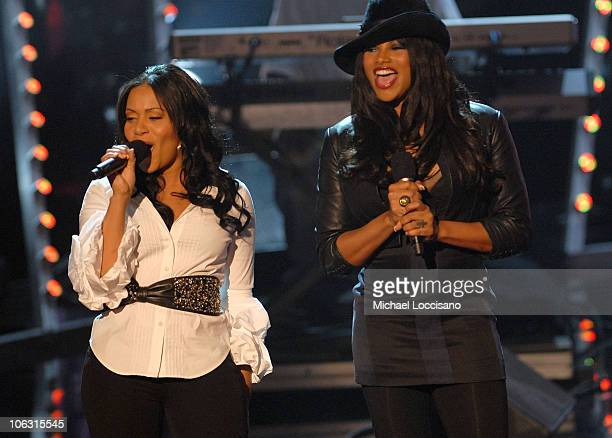 Rappers Cheryl Salt James and Sandra Pepa Denton of SaltNPepa onstage during the 2007 Vh1 Hip Hop Honors at Hammerstein Ballroom on October 4 2007 in...