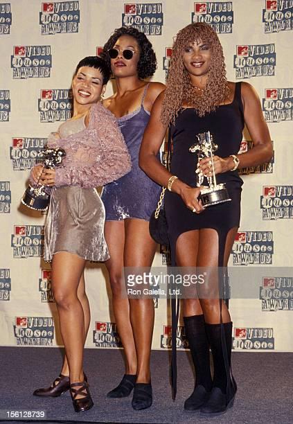 Rappers Cheryl Salt James Sandra Pepa Denton and Deidra Roper attending 11th Annual MTV Video Music Awards on September 8 1994 at Radio City Music...