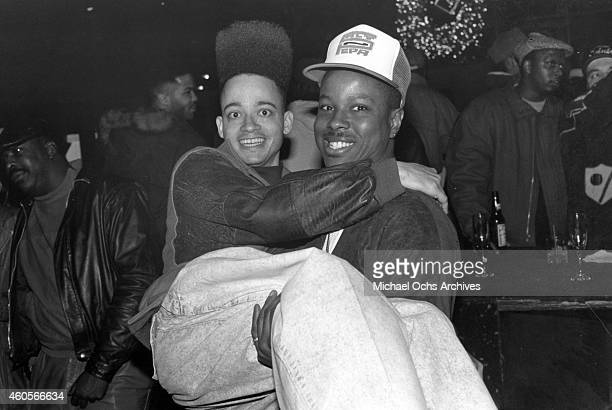 Rappers Christopher Kid Reid and Christopher Play Martin of the hiphop group Kid 'n Play pose for a portrait in circa 1988