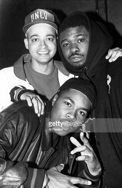 Rappers Christopher Kid Reid of Kid 'n Play Greg Nice and DNice aka Derrick Jones pose for a portrait at Rowdy Records party at Club Shelter in circa...