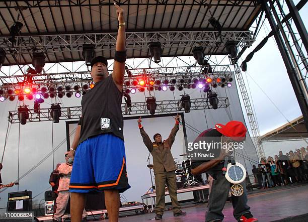 Rappers Chuck D and Flavor Flav from the rap group Public Enemy perform during the Vegoose Music Festival 2007 at Sam Boyd Stadium on October 27 2007...