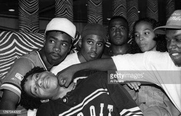 """Rappers Dinco D of Leaders Of The New School, A Tribe Called Quest and Isis attend an album-release party for A Tribe Called Quest's """"The Low End..."""