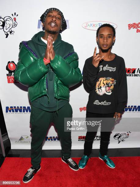 Rappers Eearz and Slim Jxmmi of Rae Sremmurd attends 2nd Annual Mike WiLL's Wish Fest at Andretti Indoor Karting and Games Marietta on December 21...