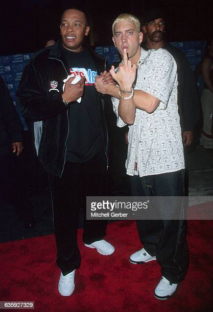Rappers Eminem and Dr Dre arriving at the MTV Video Music Awards at the Metropolitan Opera House