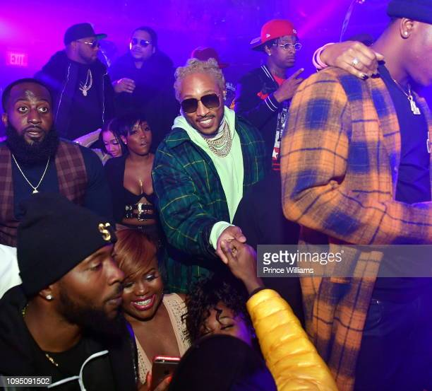 Rappers Future and 21 Savage attend the 2nd annual No Cap Tuesday at Gold Room on January 16 2019 in Atlanta Georgia