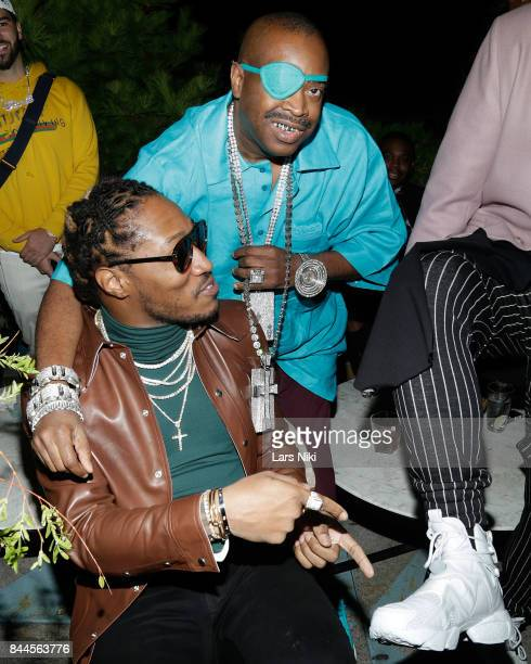 Rappers Future and Slick Rick attend the Flaunt and Reebok 'The Eternal Issue' celebration hosted by Future at Sixty Hotel Soho on September 8 2017...