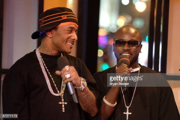 Rappers Havoc and Prodigy from the group Mobb Deep make an appearance on MTV 2 Presents Sucker Free Week on April 6 2006 in New York City