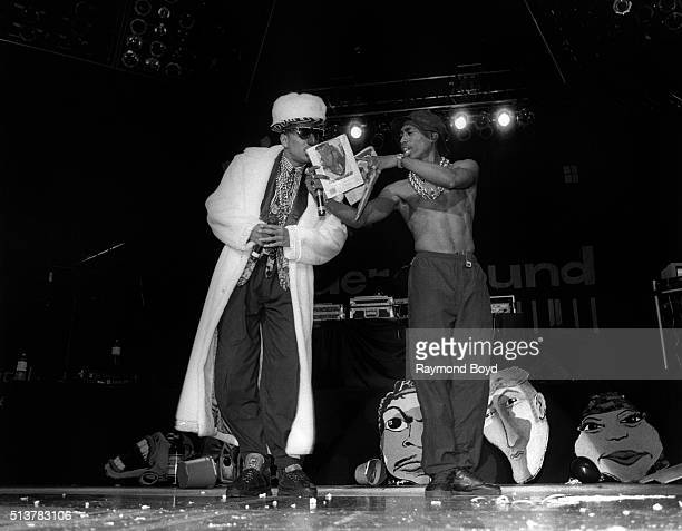 Rappers Humpty Hump from Digital Underground and 2 Pac performs at the UIC Pavilion in Chicago Illinois in 1991